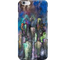 Abstract Urban High Rises in Pigments and Ink iPhone Case/Skin