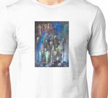 Abstract Urban High Rises in Pigments and Ink Unisex T-Shirt