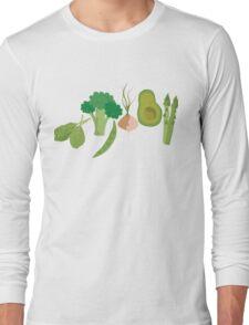 Green Veggies Long Sleeve T-Shirt