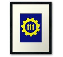 Vault 111 - Emblem Framed Print