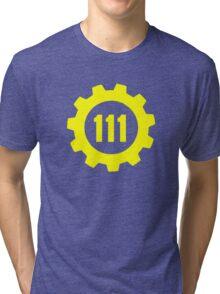 Vault 111 - Emblem Tri-blend T-Shirt