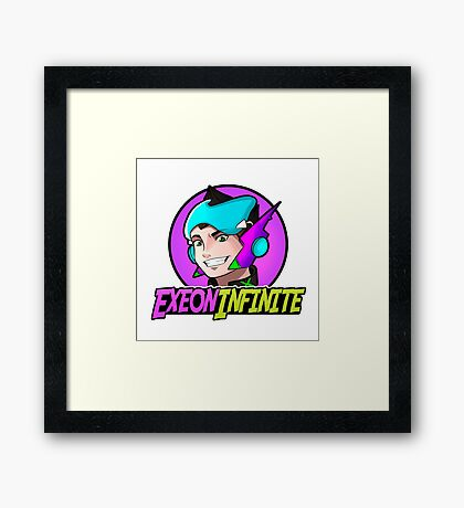 ExeonInfinite Avatar (With Name) - Inspired by Megaman / Neon Genesis Evangelion Framed Print