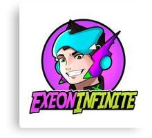 ExeonInfinite Avatar (With Name) - Inspired by Megaman / Neon Genesis Evangelion Canvas Print