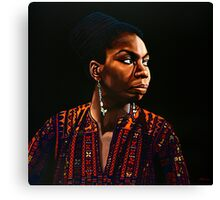 Nina Simone Painting Canvas Print