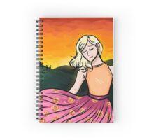 Peach Sunset - No Text Spiral Notebook
