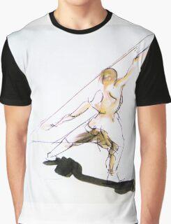 Figure Sketch Graphic T-Shirt