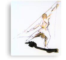 Figure Sketch Canvas Print