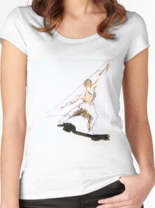 Figure Sketch Women's Fitted Scoop T-Shirt