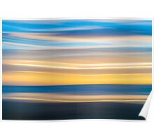 Bright coastal abstract eye-catching wavy pattern Poster