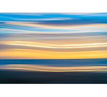 Bright coastal abstract eye-catching wavy pattern Photographic Print