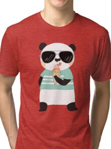 Cute Cartoon Animals Panda Bear Tri-blend T-Shirt