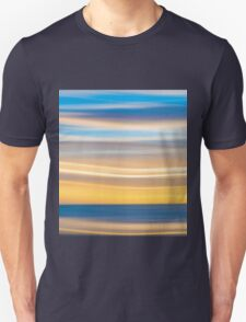 Bright coastal abstract eye-catching wavy pattern Unisex T-Shirt