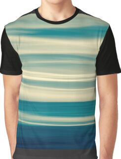Retro effect coastal abstract wavy clouds over horizon Graphic T-Shirt
