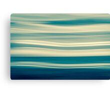 Retro effect coastal abstract wavy clouds over horizon Canvas Print