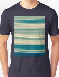 Retro effect coastal abstract wavy clouds over horizon Unisex T-Shirt