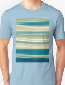 Retro effect coastal abstract wavy clouds over horizon Unisex T-Shirt