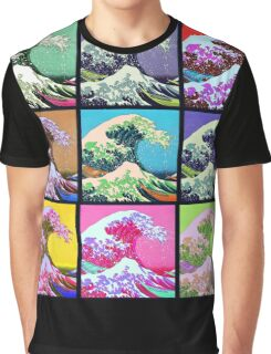 Great Wave Pop Art Graphic T-Shirt