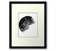 Painted Moon Framed Print
