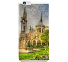 Notre Dame ..Garden Fountain view .. HDR iPhone Case/Skin