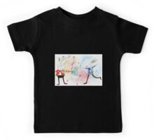 Cute Watercolor Animals Rabbits Sing and Dance Kids Tee