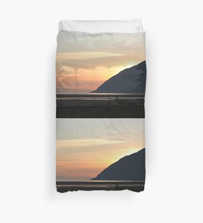 Alaskan Sunset over Turnagain Arm Duvet Cover