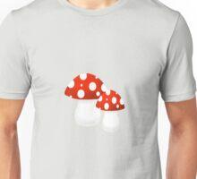 Red and White Mushroom Pair Unisex T-Shirt