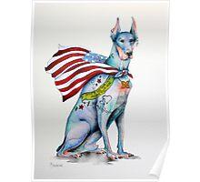 Doberman Pinscher Tattoo Dog Poster