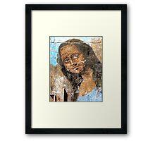 Urban Mona Lisa Framed Print