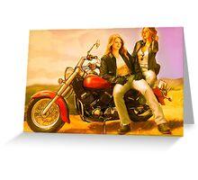 Motorcycle Supercat Greeting Card
