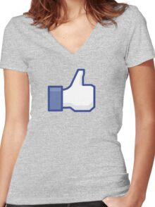 Like Women's Fitted V-Neck T-Shirt