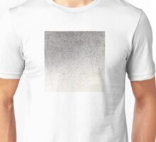 Pigment spray on Chinese Paper grey golden Unisex T-Shirt