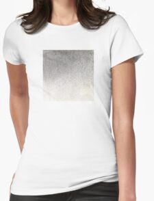 Pigment spray on Chinese Paper grey golden Womens Fitted T-Shirt