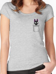 Pocket Jiji Women's Fitted Scoop T-Shirt
