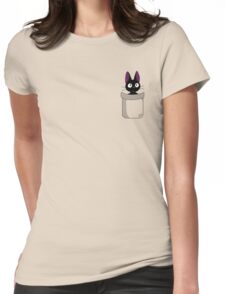 Pocket Jiji Womens Fitted T-Shirt
