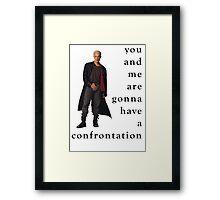 Spike Confrontation Framed Print