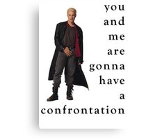 Spike Confrontation Canvas Print