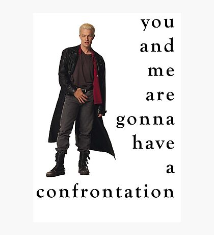 Spike Confrontation Photographic Print