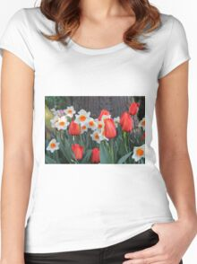 Tulips! Women's Fitted Scoop T-Shirt