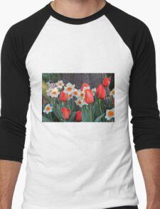 Tulips! Men's Baseball ¾ T-Shirt