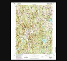 USGS TOPO Map Connecticut CT Woodbury 331235 1955 24000 Unisex T-Shirt