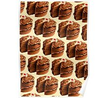 Chocolate Cake Pattern Poster