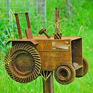 Rusty Tractor Box   by Penny Smith
