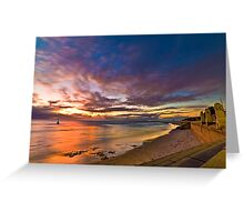 Sunset at Cottesloe 2 Greeting Card