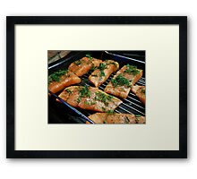 Cuts of Salmon Framed Print