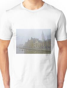 A foggy morning in Ghent Unisex T-Shirt