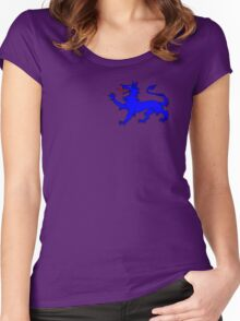 Blue Tyger on purple Women's Fitted Scoop T-Shirt