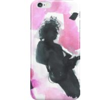 The 1975 Matty Healy Silhouette with Guitar  iPhone Case/Skin