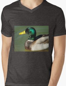 Mallard Profile Mens V-Neck T-Shirt
