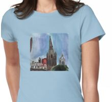 Here Is The Steeple.. Womens Fitted T-Shirt