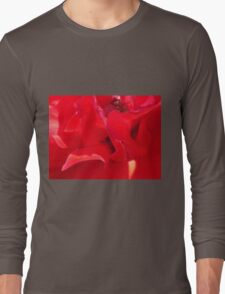 Fire Red Petals Long Sleeve T-Shirt